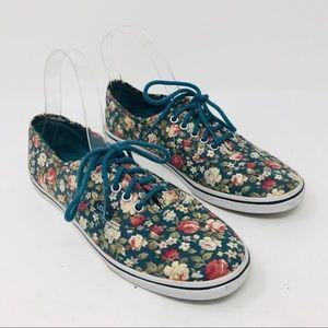 Vans Flower Sneaker Lace Up Shoes
